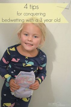 4 tips for conquering bedwetting with a 3 year old #ConquerBedWetting