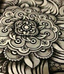 Flor con Zentangle Art!