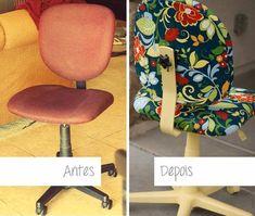 DIY: encapando e renovando a cadeira de escritório - Mania de Decoração