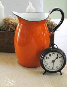 Great Orange Pitcher!  More orange kitchen decor here:  http://www.squidoo.com/orange-kitchen-decor  #ppgorange