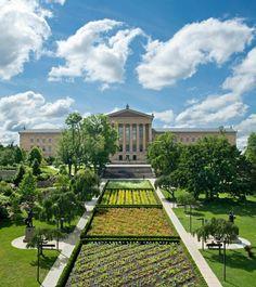 Sol Lewitt, parterre garden--his only garden plan--has finally been realized in Philadelphia's Fairmount Park. Modern Landscaping, Garden Landscaping, Gardens Of The World, Philadelphia Museum Of Art, Historic Philadelphia, Public Art, Public Spaces, Best Vacations, Garden Planning