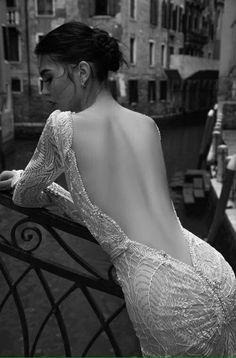 A Venetian Affair: Inbal Dror Wedding Dress Collection 2015 Part 1 - Weddbook Backless Wedding, Wedding Gowns, Wedding Blog, Lace Wedding, Backless Gown, Crystal Wedding, Destination Wedding, Wedding Planning, Wedding Ideas
