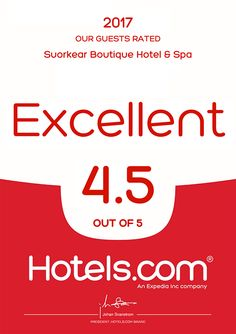 Loved & Rated by our valued guest  #Hotels.com  www.suorkearboutique.com