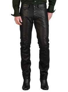 for Men's & Boys 100% ✔ Genuine Lambskin Leather Straight Motor Biker Pant Slim Fit Fantastic figure Designer Mid Waist Straight Style Pants with a very Beautiful ♥ attractive look.Perfect for cocktail/ evening parties, nightclub, dance halls, proms, bar, club wear etc.(because Fashion always say look at this) Please confirm your required size after order via massage. ★PLEASE NOTE : ALL SIZES ARE AVAILABLE AS PER SIZE POSTED BELLOW X-SMALL = SMALL = Medium = LARGE = X-LARGE = 2X-LARGE = 3X-L Mens Leather Pants, Cow Leather, Cowhide Leather, Black Leather, Leather Fashion, Mens Fashion, Biker Pants, Slim Fit Pants, Stylish Men