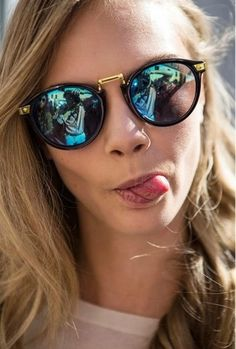 sunglasses cara delevingne gold black pretty swag funny model cara delevingne round frame glasses cute