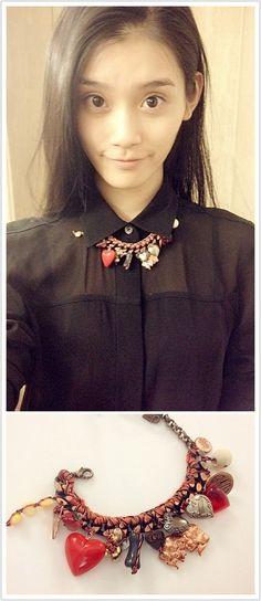 wearing Venessa Arizaga necklace <3