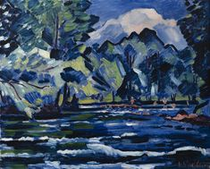 Vaclav Špála - The Rapids on Orlice River, 1928 Fauvism, Types Of Painting, Siena, Cool Art, Nice Art, Artsy Fartsy, Modern Art, Art Gallery, Graphic Design