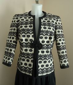 Available @ TrendTrunk.com Trina Turk Black and White Cropped Jacket. By Trina Turk. Only $43!