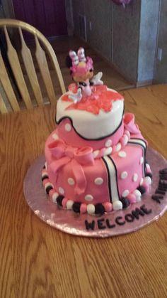 Minnie baby shower cake!