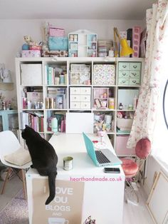 The Expedit - The Craft Room Diary at hearthandmadeuk Welcome to my first installment in the Craft Room Diaries! Do you have a craft room? How do you keep it organized? Craft Room Storage, Craft Organization, Craft Rooms, Storage Ideas, Organizing Ideas, Small Storage, Ikea Craft Room, Paper Storage, Diy Storage