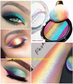 Cosmetics Eye shadow Color Makeup Pro Glitter Eyeshadow Palette 6 Colors Health & Beauty, Makeup, Eyes eBay! Eye Makeup Glitter, Glitter Eyebrows, Glitter Eyeshadow Palette, Eye Makeup Tips, Makeup Tools, Makeup Brushes, Beauty Makeup, Makeup Hacks, Makeup Tutorials