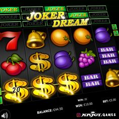 Do you dream of fantastic gaming pleasure and great opportunities to win? Then wake up and get on board with Joker Dream! In this popular five-reel game, you can't actually win in your sleep but t Have A Good Night, Good Night Sleep, Joker Symbol, Online Casino, Dreaming Of You, Gaming, Popular, Board, Videogames