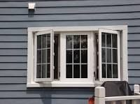 """Casement style windows are hinged at the side and can either swing inward or outward; sometimes referred to as """"crank out"""" windows, it opens like a door. Crank Out Windows, Window Manufacturers, Casement Windows, Modern Glass, Window Design, Window Curtains, Master Bathroom, Home Improvement, Doors"""