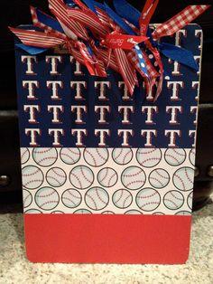Texas Rangers Baseball Clipboard 2. $16.50, via Etsy.