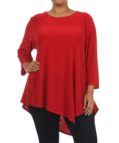 Another great find on #zulily! Red Swing Top - Plus by Come N See #zulilyfinds