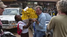Jeremy Clarkson can't remember the exchange rate, so he buys the whole batch of bananas. Africa Special