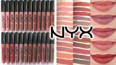 NYX Lip Lingerie Liquid Lipsticks || Arm & Lip Swatches of ALL 24 SHADES