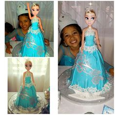 frozen themed princess elsa cake #birthdaycake