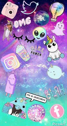 Cute Wallpapers For Phone Unicorn Cartoon Wallpaper, Unicornios Wallpaper, Kawaii Wallpaper, Tumblr Wallpaper, Galaxy Wallpaper, Disney Wallpaper, Black Wallpaper, Friends Wallpaper, Pastel Wallpaper