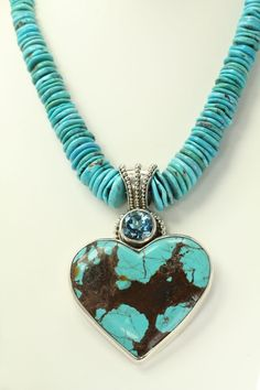 Large Turquoise Heart Statement Necklace... i crave this big time!!!!