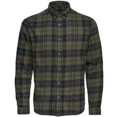 Only and Sons Men's Plaid Cotton Button-Down Shirt ($49) ❤ liked on Polyvore featuring men's fashion, men's clothing, men's shirts, men's casual shirts, grey, mens casual button down shirts, mens long sleeve cotton shirts, mens button up shirts and mens long sleeve button down shirts