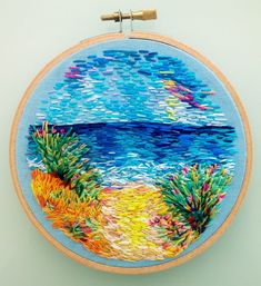 Marvelous Crewel Embroidery Long Short Soft Shading In Colors Ideas. Enchanting Crewel Embroidery Long Short Soft Shading In Colors Ideas. Crewel Embroidery Kits, Hand Embroidery Patterns, Cross Stitch Embroidery, Embroidery Thread, Embroidery Supplies, Creative Embroidery, Sewing, Thread Painting, Needlecrafts