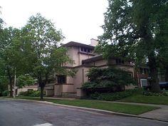 William G. Fricke House, Oak Park, IL. Frank Lloyd Wright architect