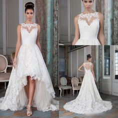 2016 Justin Alexander High-low Ball Gown Wedding Dresses Illusion Neckline Backless Covered Button Summer Beach Bridal Gowns Online with $130.06/Piece on Magicdress2011's Store | DHgate.com