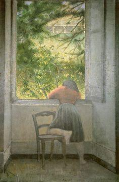 art-is-art-is-art:  Girl at the Window, Balthus - #Art #LoveArt https://wp.me/p6qjkV-kdx