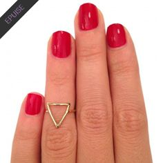 bague de phalange triangle
