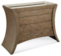 "Arcos Hall Chest - contemporary - Dressers Chests And Bedroom Armoires - ZFurniture Width 43""  Depth 19""  Height 36"""
