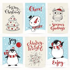Christmas greeting posters with funny characters royalty-free christmas greeting posters with funny characters stock vector art & more images of christmas