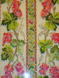 Lesage embroidery sample for the Balenciaga dress.