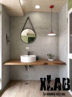 Mensola Long piano lavabo legno massello Xlab