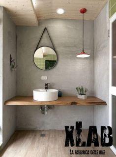 Mensola Long piano lavabo legno massello Xlab