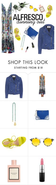 """Easy Breezy: Alfresco Dining"" by sanddollardubai ❤ liked on Polyvore featuring Acne Studios, Melissa Odabash, ALDO, Krewe, Gucci and OPI"