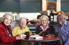Older people in a cafe