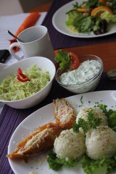Cordon bleu și orez pentru meniul zilei