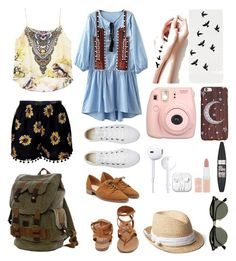 """""""Лето/Summer"""" by painteronion ❤ liked on Polyvore featuring beauty, Converse, Breckelle's, Ray-Ban, Gap, Fujifilm, Rimmel and Maybelline"""