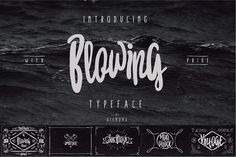 Blowing Typeface Fonts Introducing BLOWING Typeface handmade font can make your design more stunning and more Awesome, BLOW by giemons?
