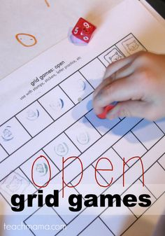 stamping crazy--open grid games for literacy & math learning --> so many ways to use these grids = LOVE