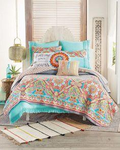 Girls Bedspreads, Comforters, Kids Decor, Decor Ideas, Bohemian Lifestyle, Duvet, Bedding, Bedroom Decor, Bedroom Ideas