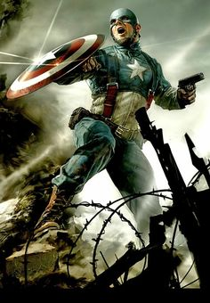 Captain America movie concept art.