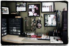 jewelry studio :: work space :: desk :: storage :: tools :: supplies ::