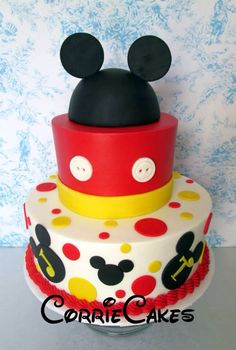 Mikey Mouse taart