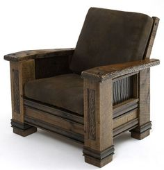 This old barn wood chair is clearly meant for pappa bear!