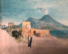 William Turner Sketch of Naples William Turner, Turner Watercolors, List Of Paintings, Southern Europe, Landscape Art, Art Pieces, Sketch, Drawings, Design