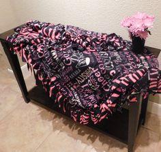 Cheer Spirit Fleece Tie Blanket by ScarlettMonkeyCrafts on Etsy