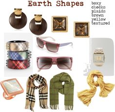 """Fashion Feng Shui Earth Shapes"" by expressingyourtruth on Polyvore"