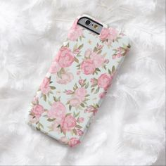 iphone 6 cases, Romantic Pink Teal Watercolor Chic Floral Pattern Barely There iPhone 6 Case Iphone 7 Plus, Iphone 8, Diy Iphone Case, Cute Iphone 6 Cases, Vintage Iphone Cases, Cute Cases, Coque Iphone, Iphone Case Covers, Chinoiserie
